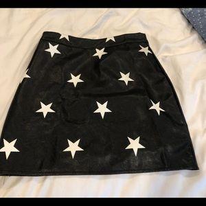 Nasty Gal True Star Faux Leather Mini Skirt
